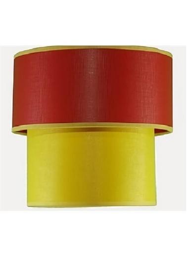 Şenay Aydınlatma İKi̇Li̇ Si̇Li̇Ndi̇R Plastik Avi̇Ze-Kirmızı Sarı Renkli